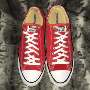 Converse All Star Red Canvas Low Top Shoes